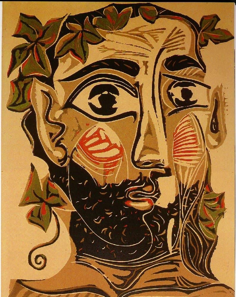 Picasso, Homme barbu, 1962, 35 x 27 cm (©DR) estampe, lithographie, linogravure, gravure sur bois