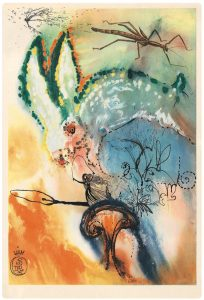 Salvador Dali, Portfolio Alice in Wonderland, héliogravure, lithographie, estampe, 1969, 43,5 x 29 cm, éd. de 2500 (© Princeton University Press)