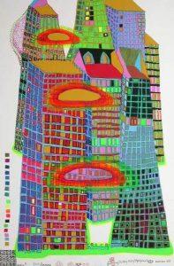 Hundertwasser sérigraphie estampe