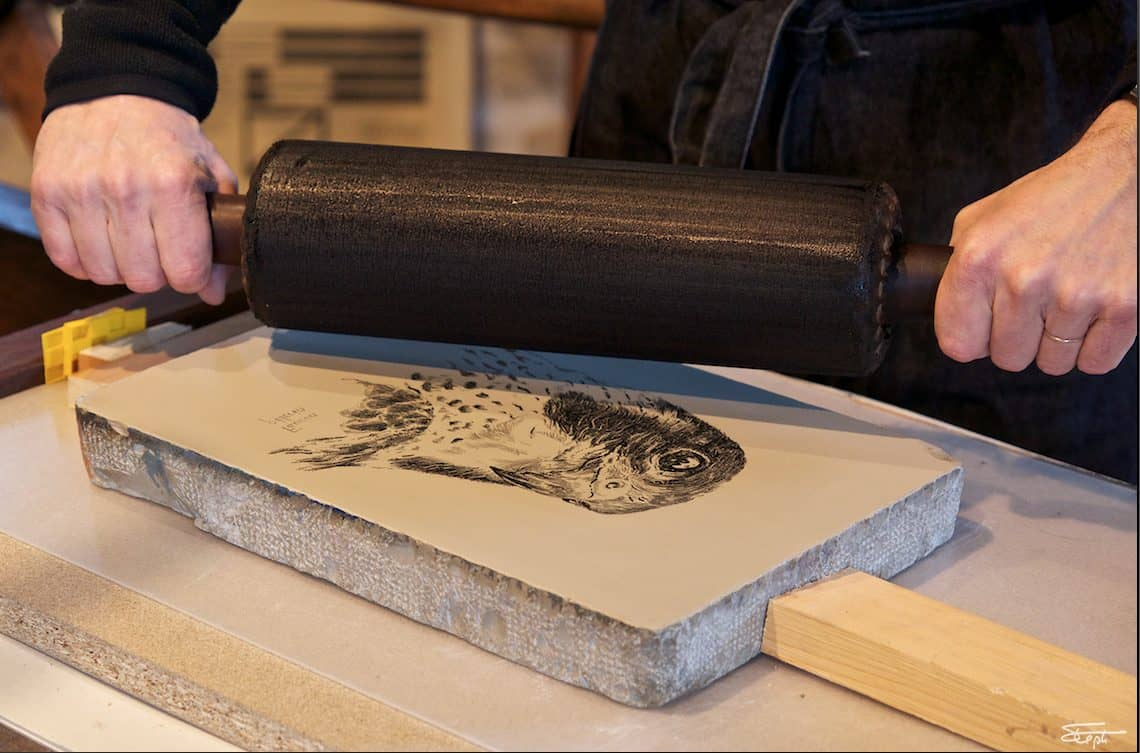 lithographie pierre rouleau estampe