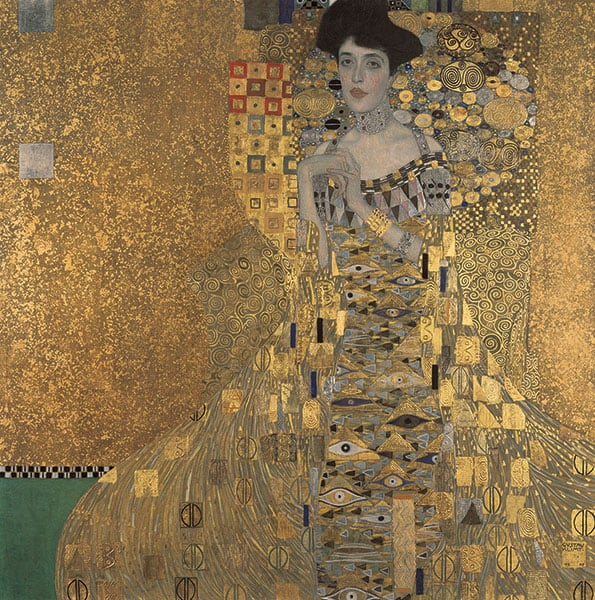 klimt adele bloch painting tableau oeuvre d'art histoire de l'art neue galerie new york