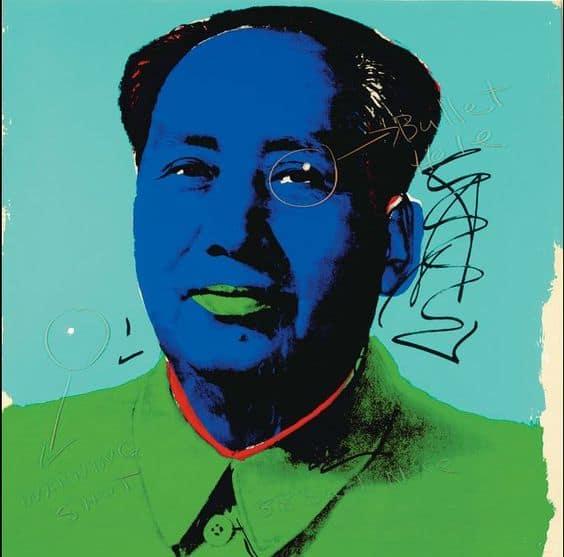 Andy Warhol Mao sérigraphie