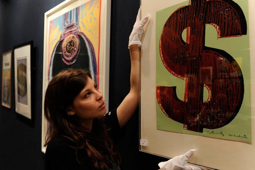 Andy Warhol encadrement sotheby's