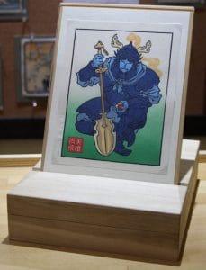boite rangement estampe japonaise