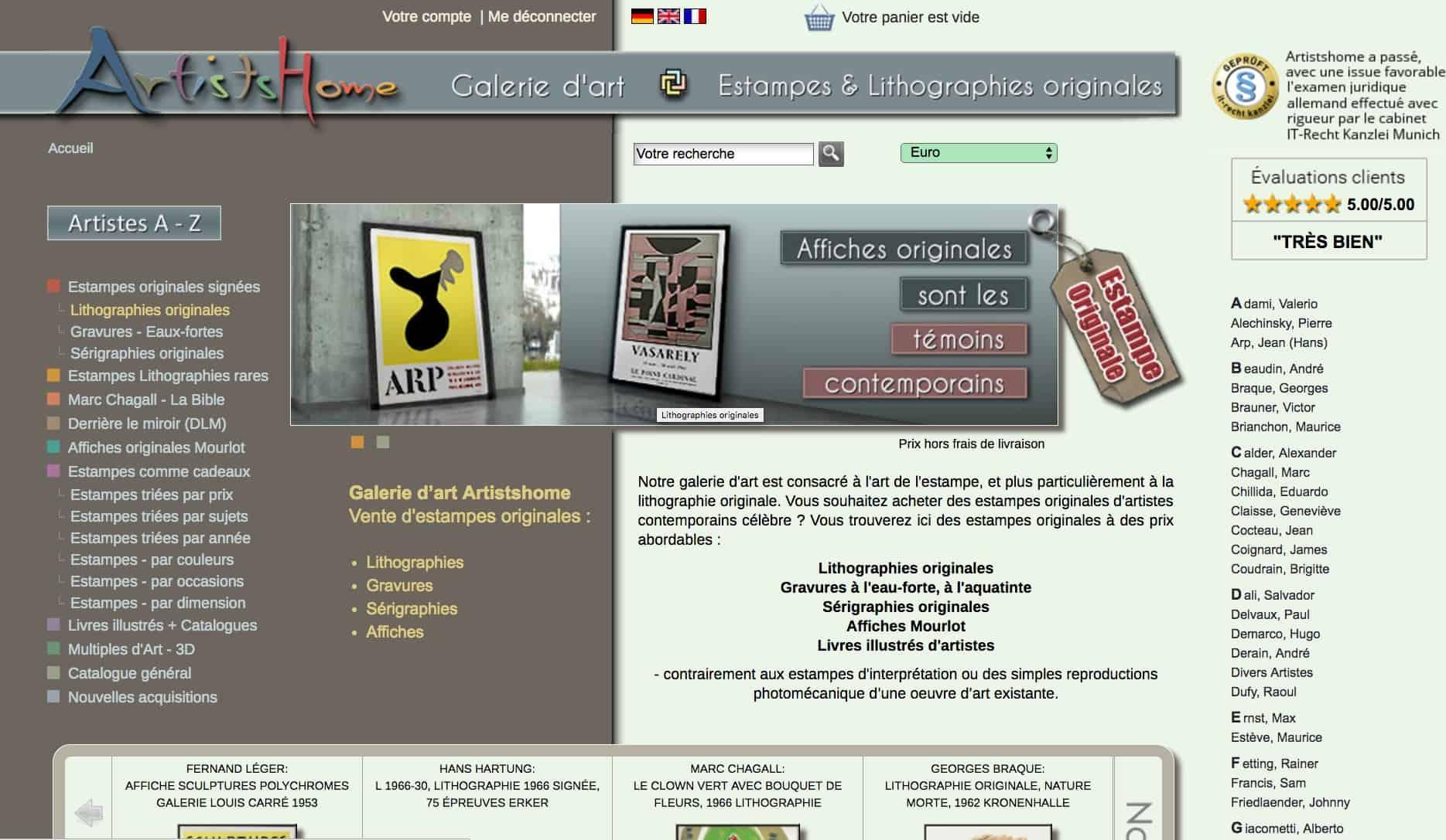 estampes modernes, lithographies