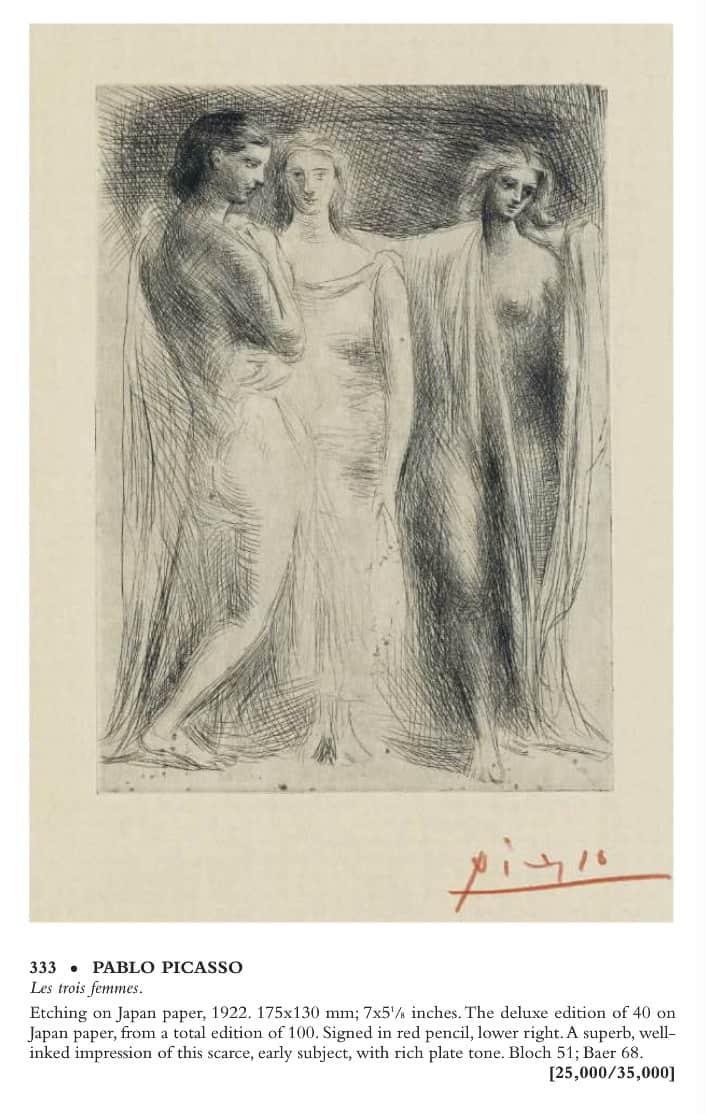 picasso gravure estampe (©Swann Auction)