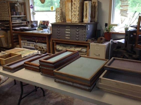 fabrication papier estampe lithographie gravure sur bois