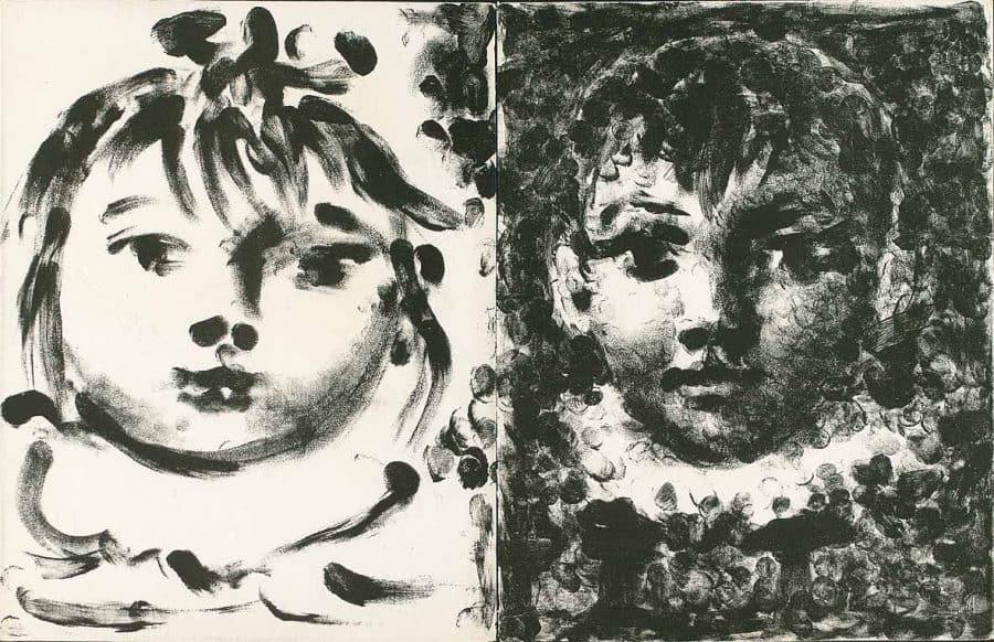 Picasso lithographie Mourlot Claude et Paloma