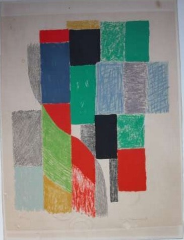 Sonia Delaunay lithographie