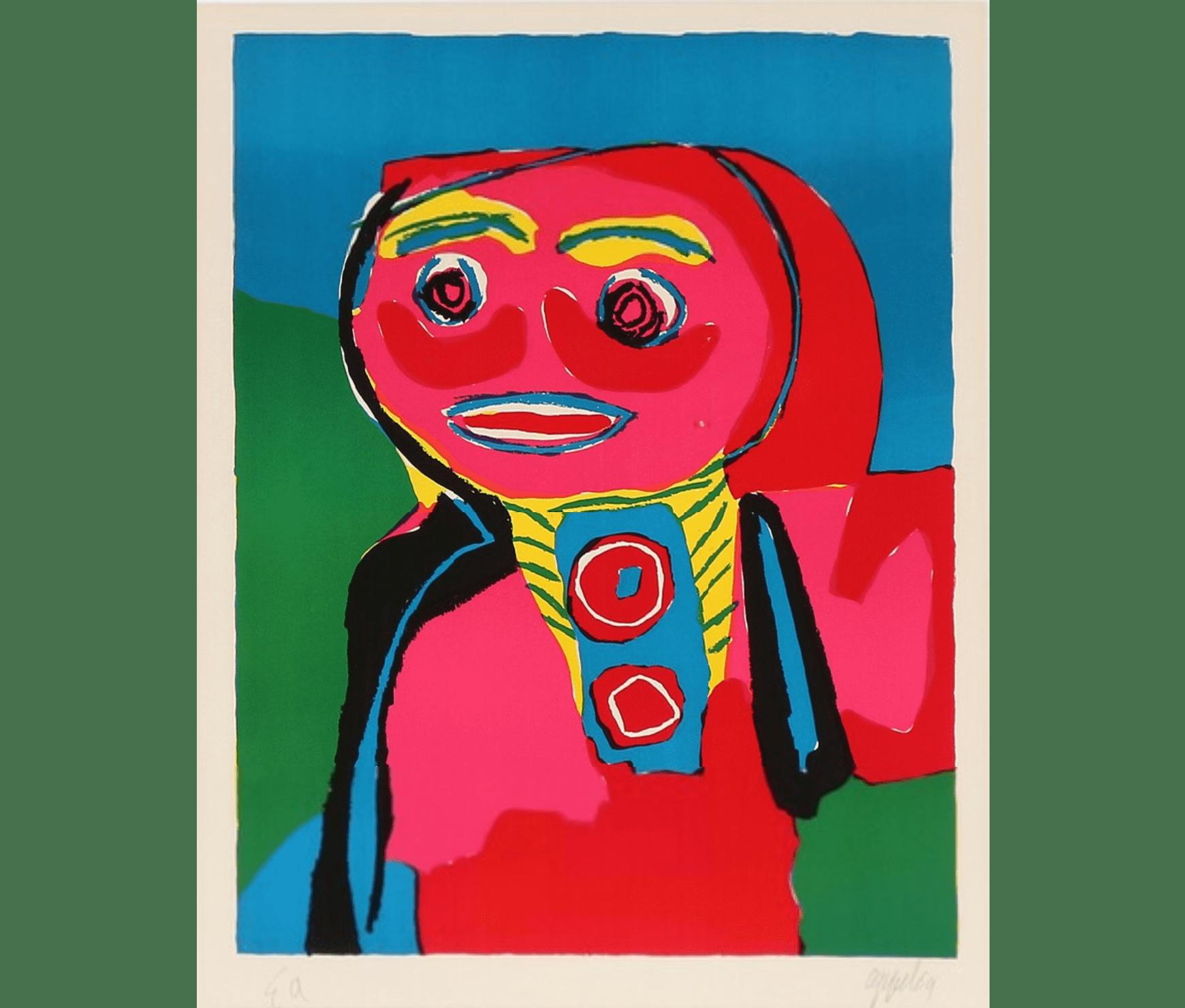 Karel Appel, 54 x 70cm, épreuve d'artiste d'une éd. de 69