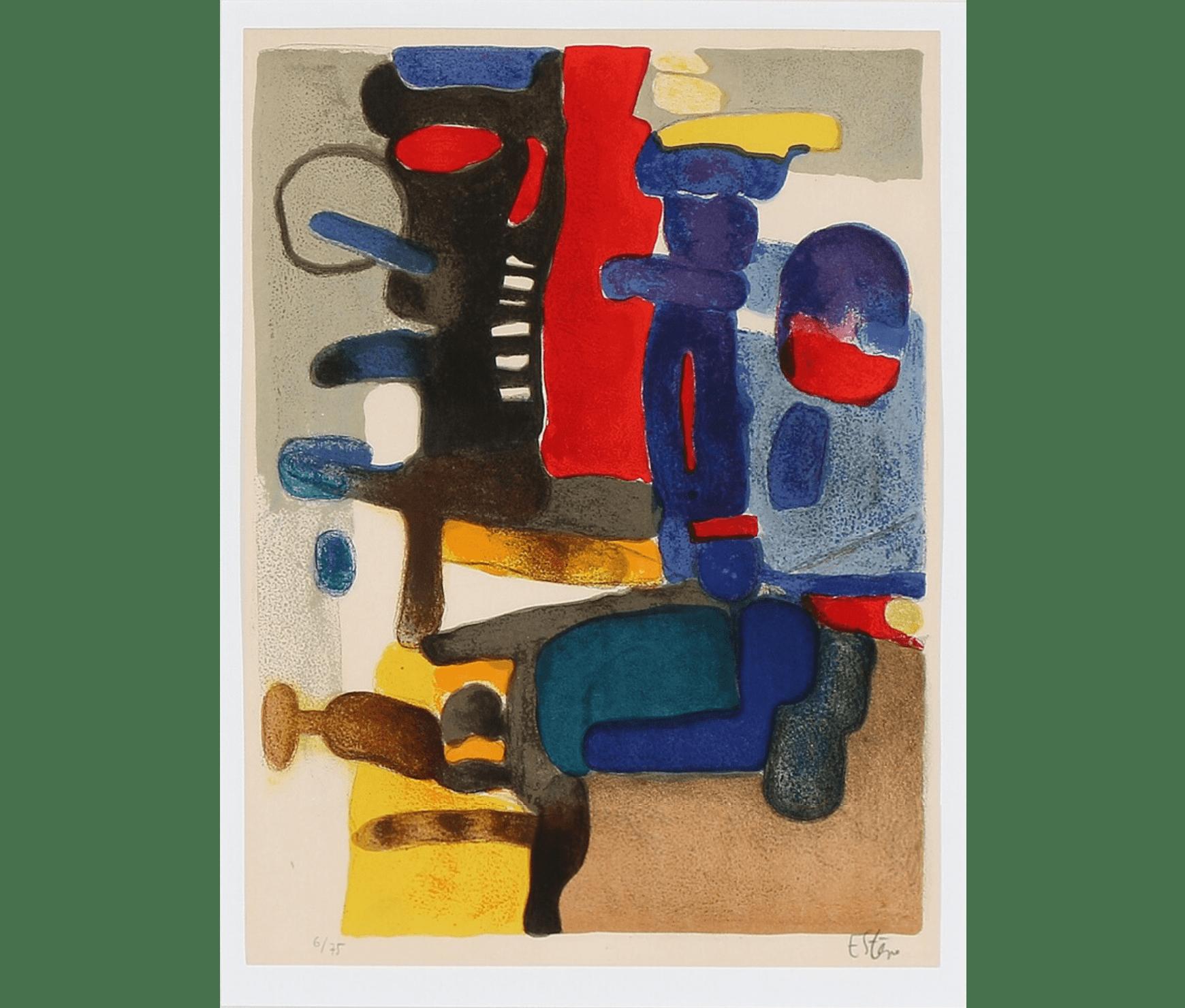 Maurice Estève, Composition, 35 x 27 cm, éd. de 75