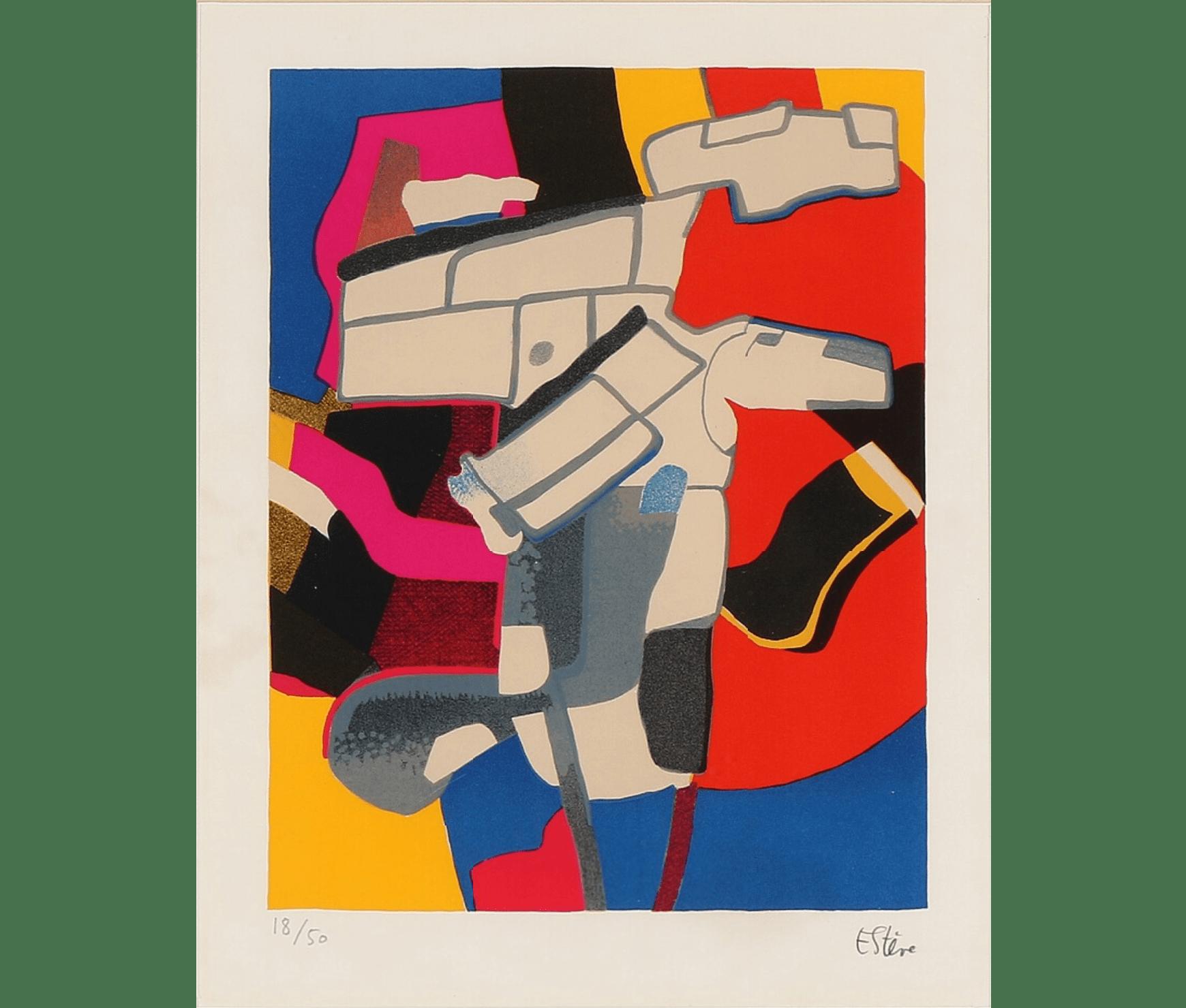 Maurice Estève, Composition, 38 x 30 cm, éd. de 50
