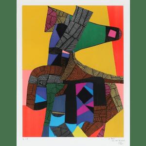 Maurice Estève, Anubis, 1969, 72 x 55 cm, ea d'un éd. de 95