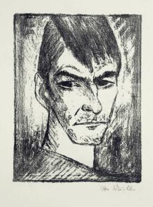 Selbstbildnis nach rechts (Profil droit),Lithographie, Karsch 140/a, 39x30cm, 1921-1922, 22000€