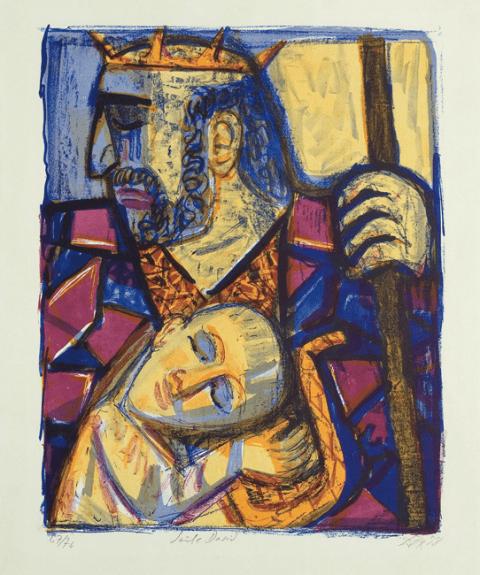 Saul et David, Lithographie couleur, Karsch 228/A, 552 x 440 mm, 1958, 12000€