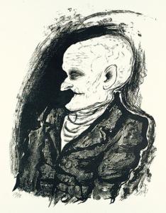 Greis (vieillard),Lithographie, Karsch 51, 53x39 cm, 1923, 4500€