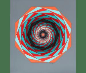 """Victor Vasarely, sérigraphie, composition pour le portfolio """"Jalons"""", 1986 , 120/250, 85 x 76 cm."""