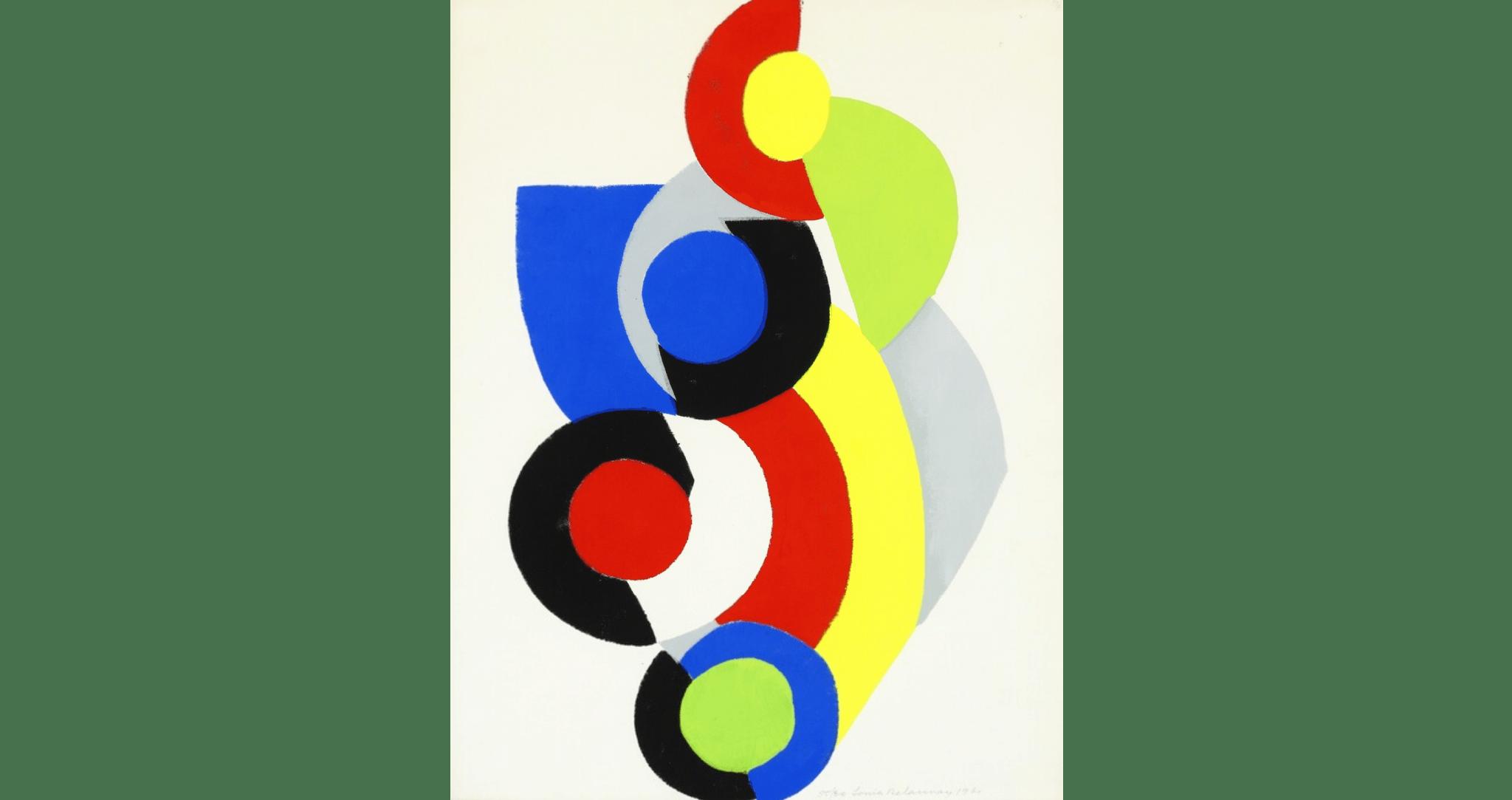 """""""Poésie de Mots - Poésie de Couleurs, No. 5"""", Pochoir réhaussé à la gouache sur Johannot., 1961. 64,5×50 cm, éd. de 80. MAP : 2700€"""