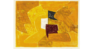 Composition orange, lithographie, 1956. 48×64 cm, éd. de 95