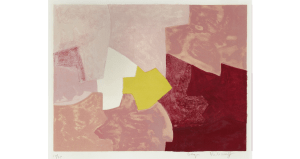 Composition rose, lithographie, 1959. 50×63 cm, éd. de 75.