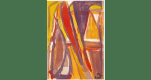 Eloignement, lithographie 1977. 87×62 cm, éd. de 100