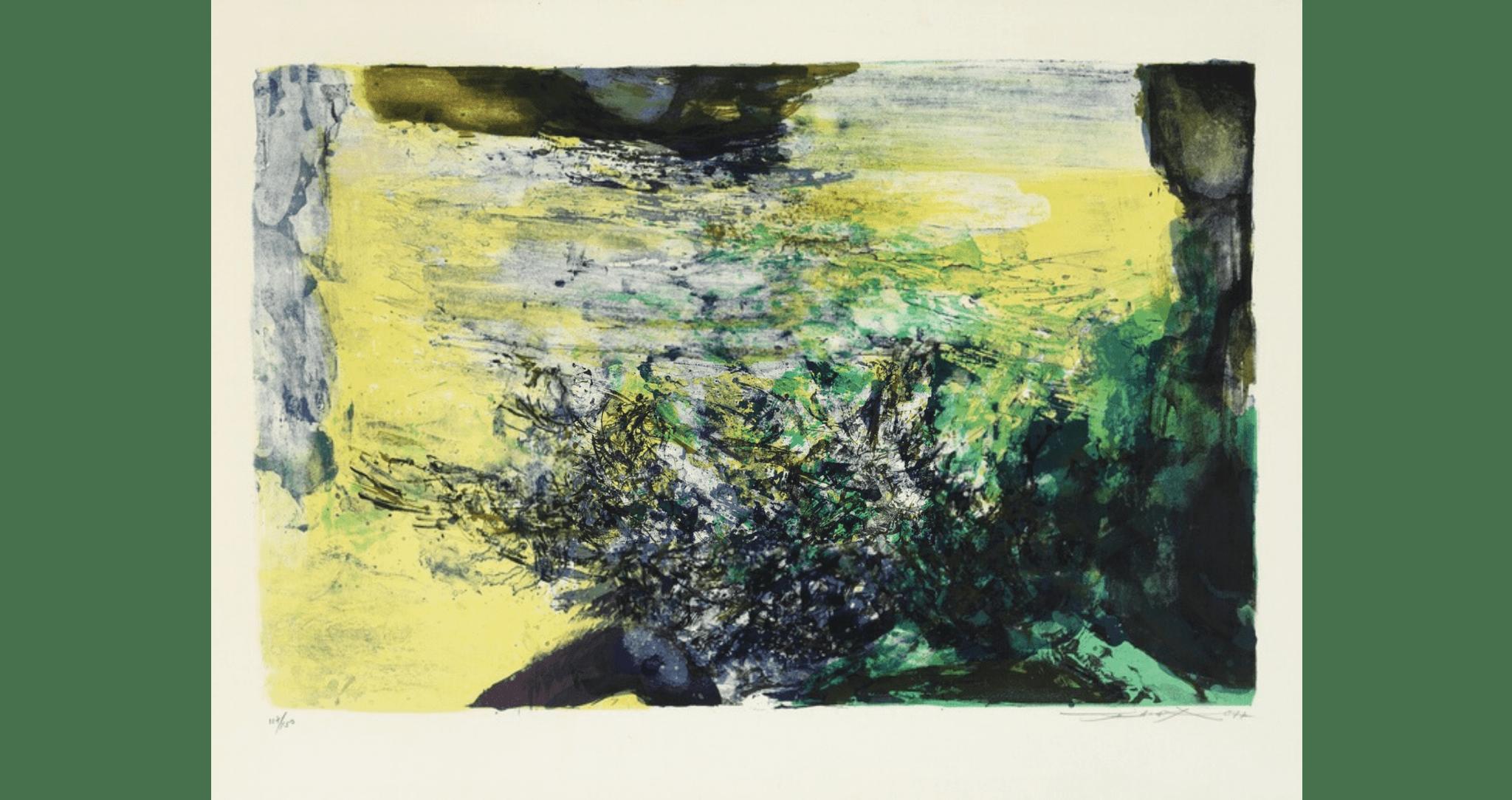 Untitled, lithographie sur Arches. 54×75 cm, éd. de 150.