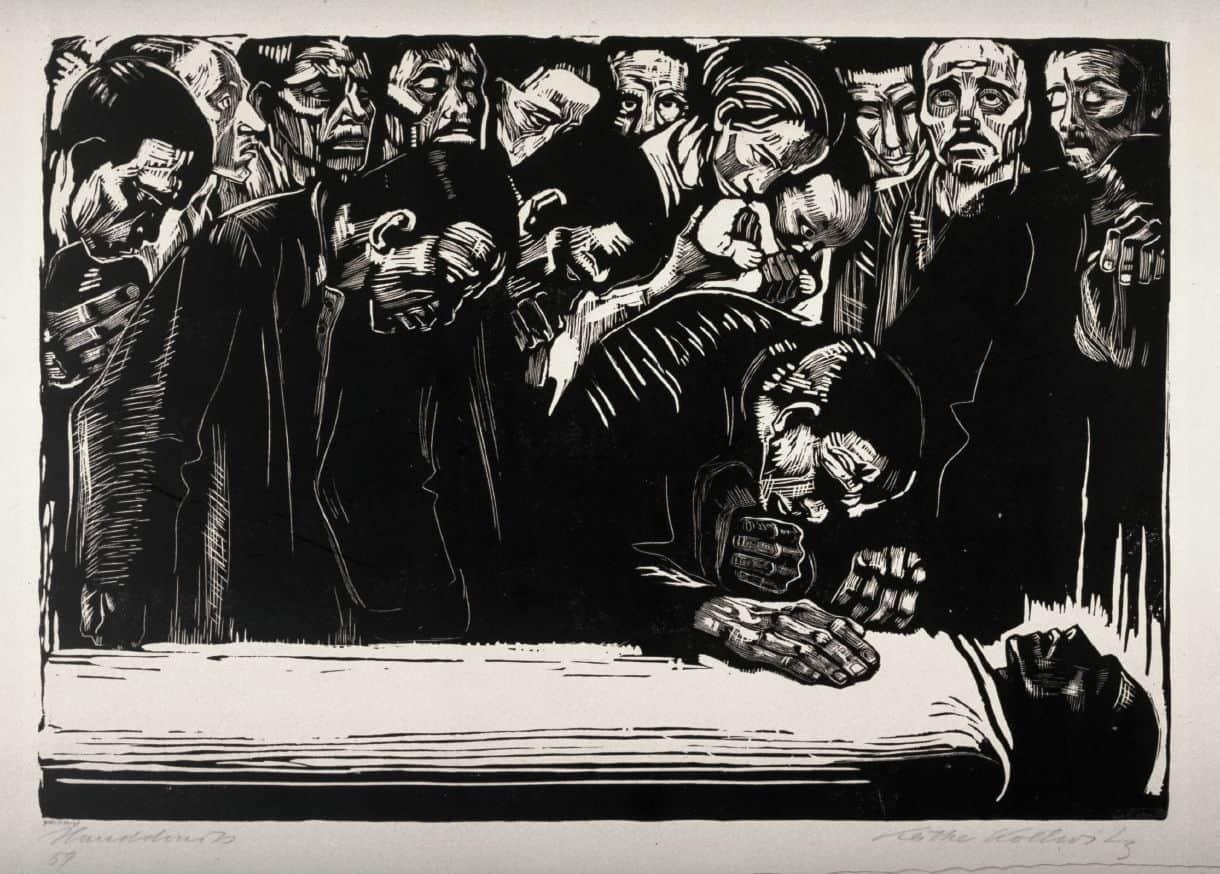 Gedenkblatt für Karl Liebknecht (Hommage à Karl Liebknecht), 1919, gravure sur bois, 34x49, éd. de 100.