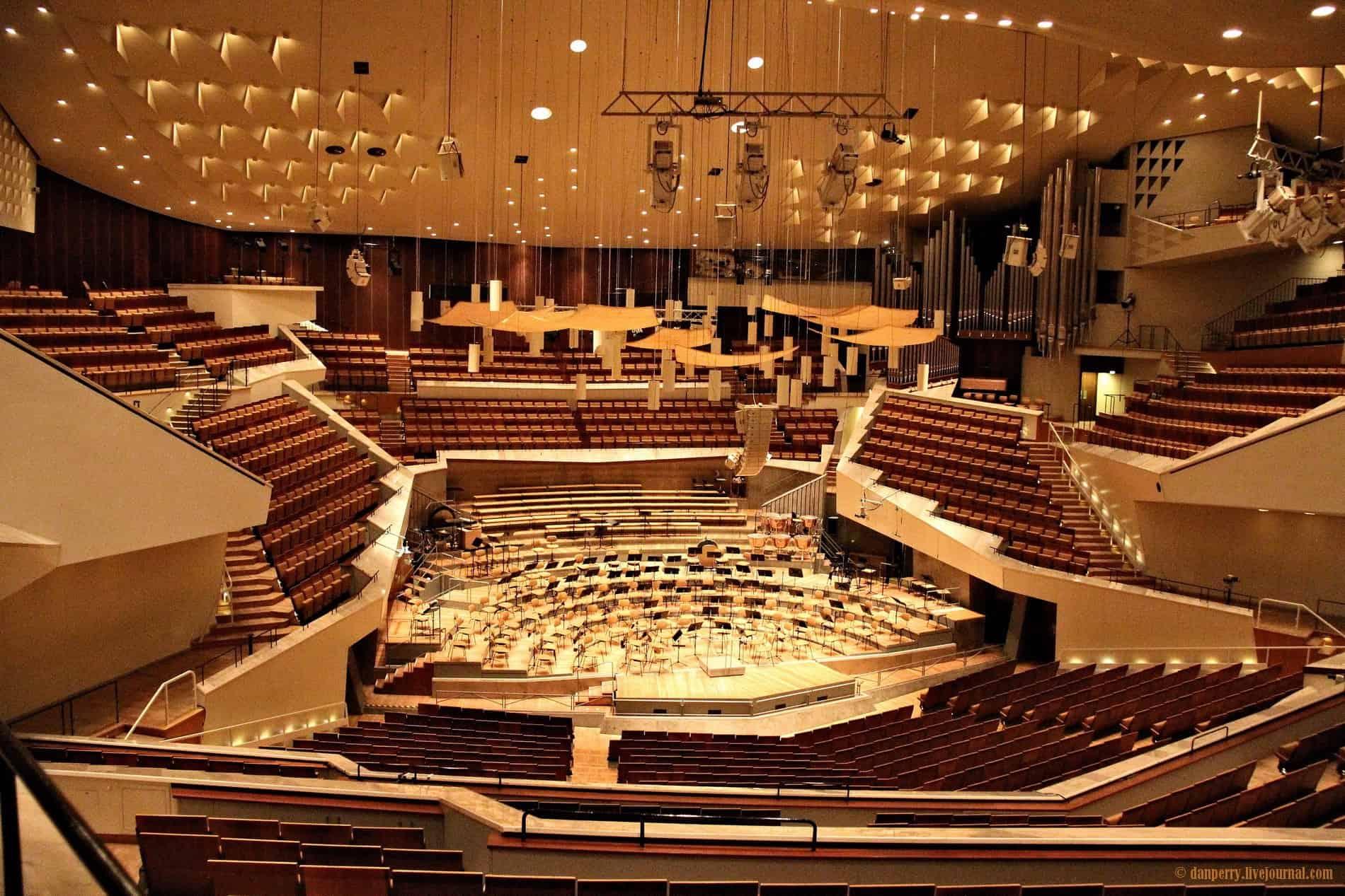 intérieur de la philharmonie de Berlin