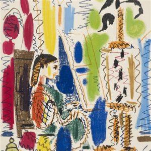 Dans l'atelier lithographie Picasso pour ces peintres nos amis