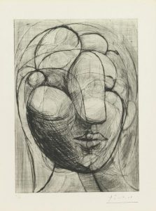 Tête de Marie-Thérèse, gravure, 1933