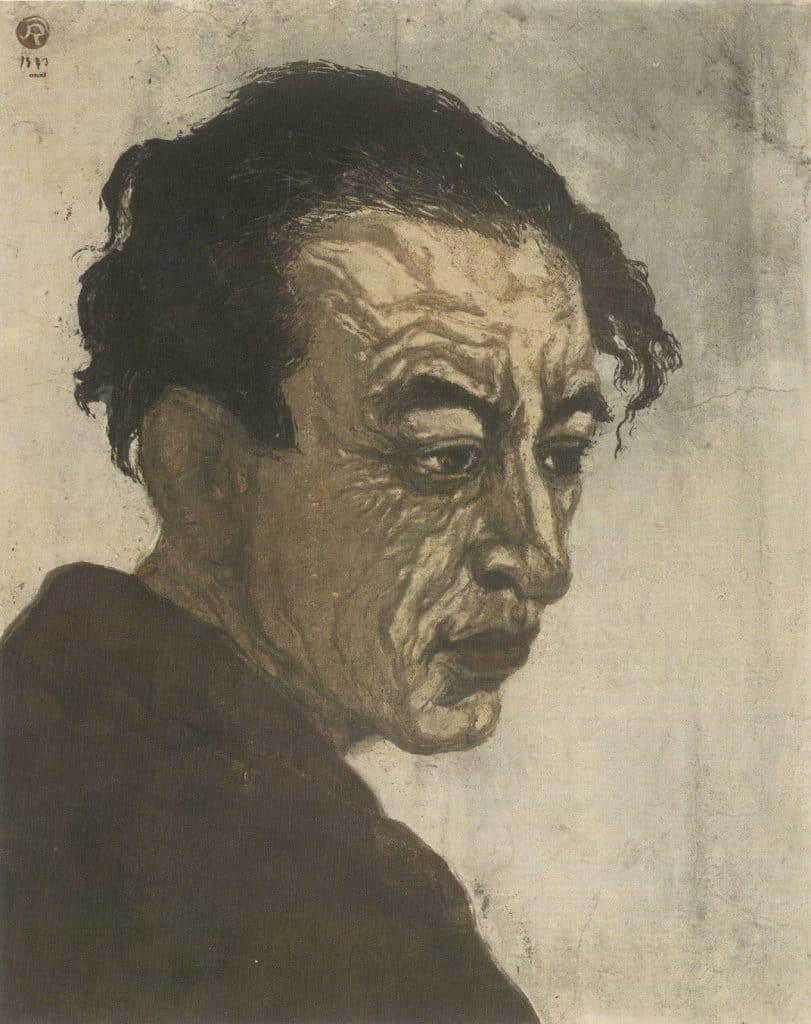 Portrait de Hagiwara Sakutarô, par Onchi Kôshirô