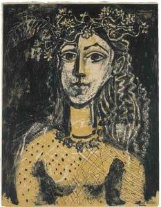 """""""Jeune fille inspirée par Cranach"""" de Picasso en 1949"""