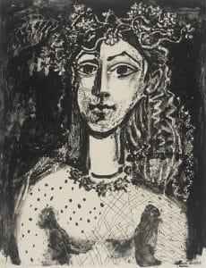 Jeune fille inspirée par Cranach, Picasso Edition: 12 of 50, Courtesy LACMA